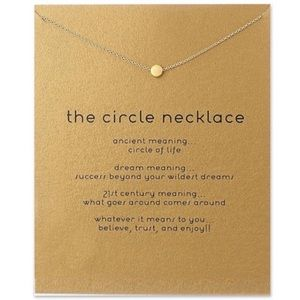 Delicate gold dot necklace